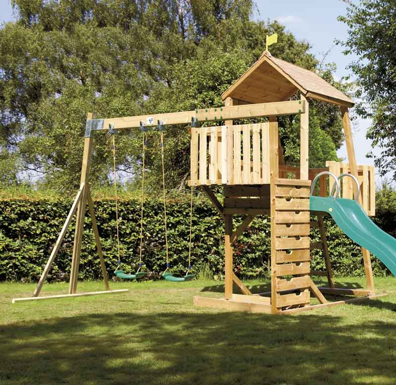 TP479 Kingswood Double Swing Arm, wooden swings and climbing frames ...